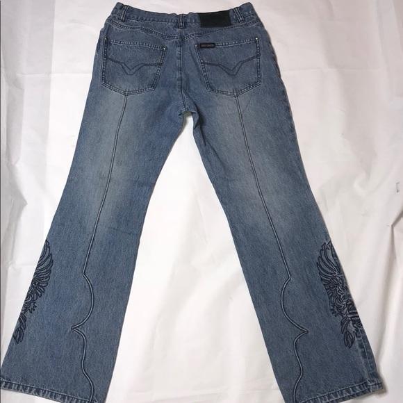 Harley-Davidson Denim - VTG Harley Davidson Boot Leg Logo Jeans Size 6